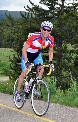 photo: Dale Aychman cycling Vail Pass