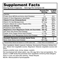 Bone Density Skeletal Support Supplement Facts