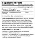 Super Curcumin C3 Supplement Facts