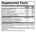 Thyroid Energy Supplement Facts