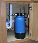 Undercounter water filter connect to cold water line