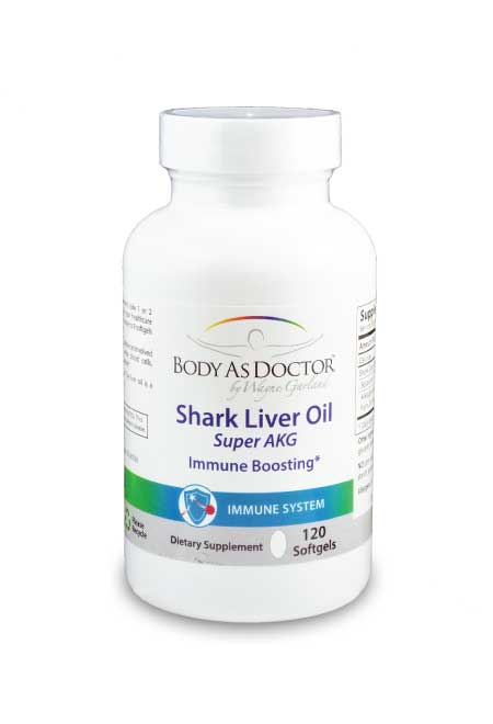 Shark Liver Oil 550mg with Alkylglycerols